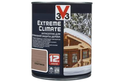 Антисептик для экстремальной защиты V33 Extreme Climate 0.9 л, Цвет платина
