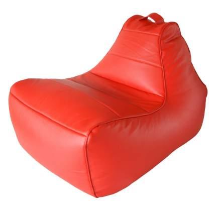Бескаркасное кресло Папа Пуф Modern Lounger one size, экокожа, Red (красный)