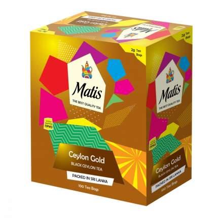 Чай Matis Золото цейлона черный 100 пакетиков