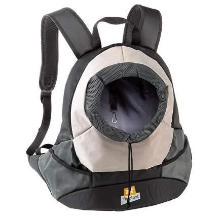 Переноска-рюкзак для животных Ferplast Kangoo, серый, 41,5x20x43 см
