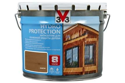 V33 Hydro Protection антисептик для усиленной защиты дерева 9 л, Цвет каштан