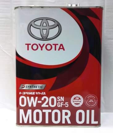 Моторное масло Toyota SN 0W-20 4л