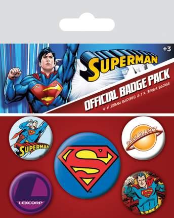 Набор значков Pyramid DC Comics - Superman (5 шт) BP80484