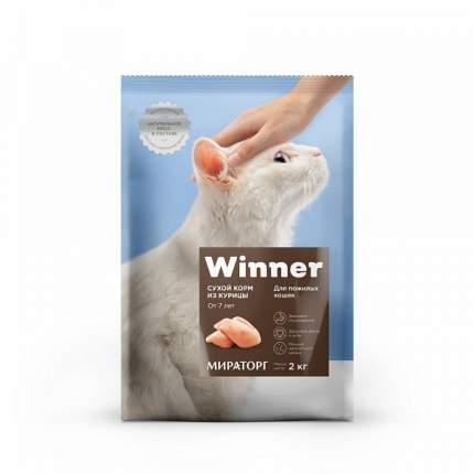 Сухой корм для кошек Winner Senior, для пожилых, курица, 10кг