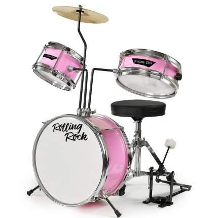 Ударная установка детская Rolling Rock Kids Jr-1286pk розовый