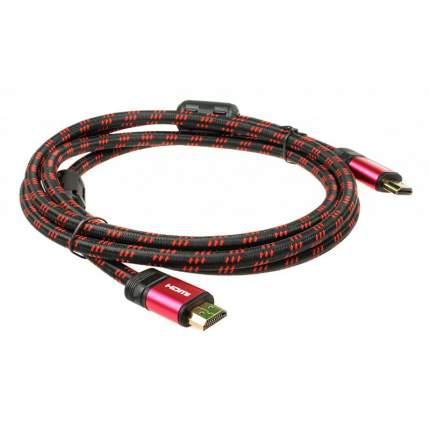 Кабель DVTech HDMI - HDMI, 1,8м Red/Black (CB302)