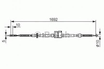 Трос cтояночного тормоза Bosch 1987477813