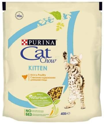 Сухой корм для котят Cat Chow Kitten, домашняя птица, 0,4кг