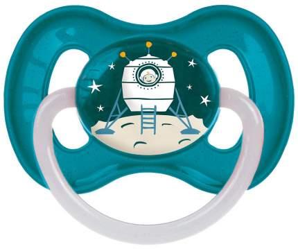 Пустышка латексная Canpol Babies Space 6-18 мес 23/222/Бирюзовый