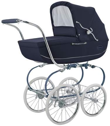 Коляска для новорожденного Inglesina Classica на шасси Balestrino Chrome Blue