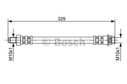 Шланг тормозной системы Bosch 1987481032