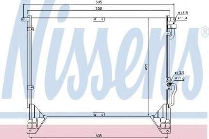 Радиатор кондиционера Nissens 94643
