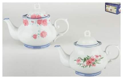 Чайник заварочный Коралл 1348 Цветочное танго Белый