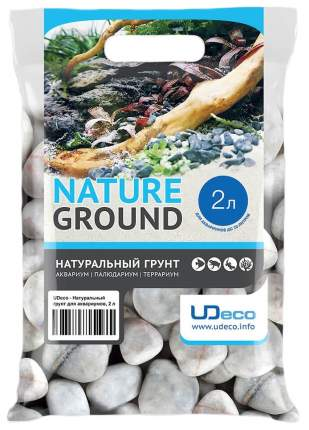 Грунт для аквариума UDeco Stream White 30-50 мм 2 л