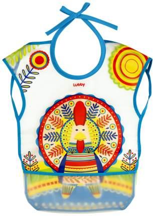 Нагрудник детский lubby new с карманом на завязках Русские мотивы от 6 мес