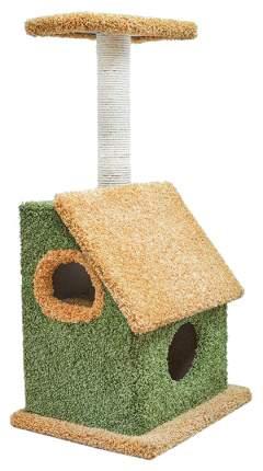 Комплекс для кошек Дарэлл, бежевый, зеленый, 3 уровня