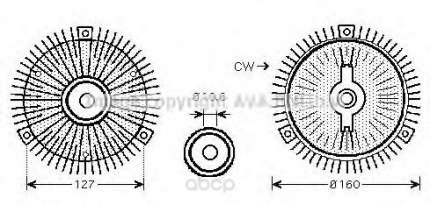 Mуфта вентилятора охлаждения двигателя Ssangyong Kyron 05 Ava MSC488