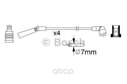 Комплект высоковольтных проводов Bosch 0986357157
