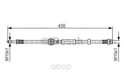Шланг тормозной Bosch 1987481023