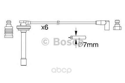 Комплект высоковольтных проводов Bosch 0986357167