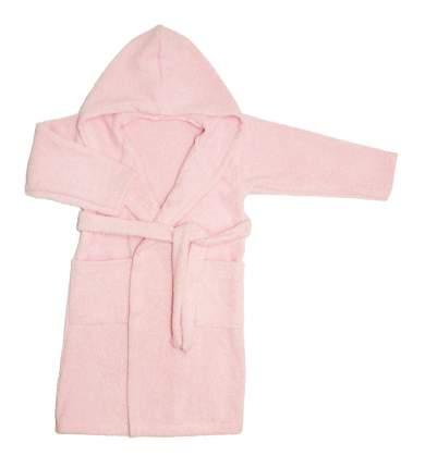 Халат махровый детский Осьминожка розовый 134