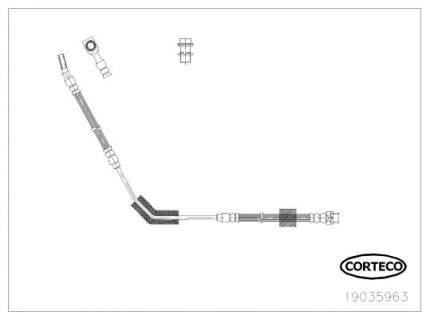 Шланг тормозной системы CORTECO 19035963