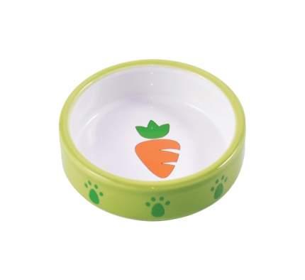 Одинарная миска для грызунов КерамикАрт, керамика, зеленый, 0.07 л