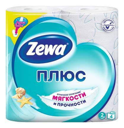 Туалетная бумага Zewa Плюс Свежесть Океана, 2 слоя, 4 рулона