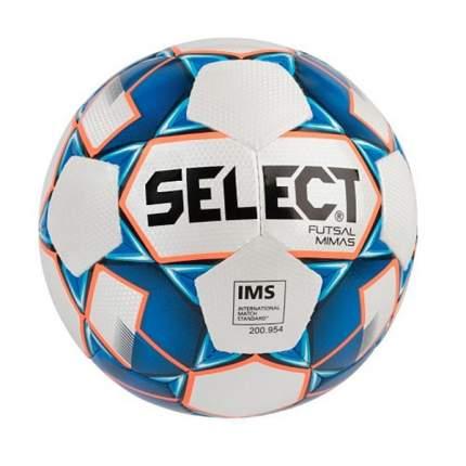 Футбольный мяч Select Futsal Mimas №4 white/blue