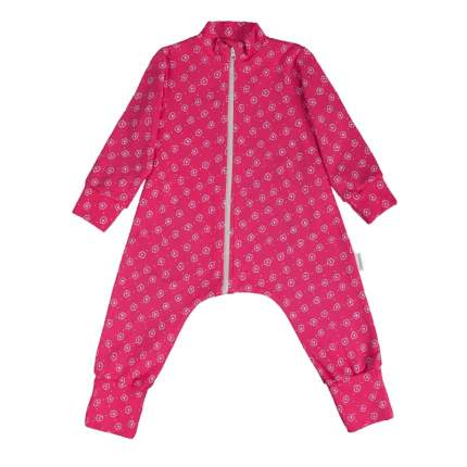 Комбинезон-пижама Bambinizon Цветочный луг ЛКМ-БК-ЦЛ р.56