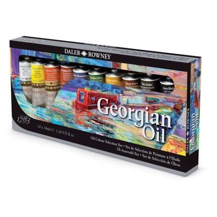 Масляные краски Daler Rowney Selection Georgian 10 цветов