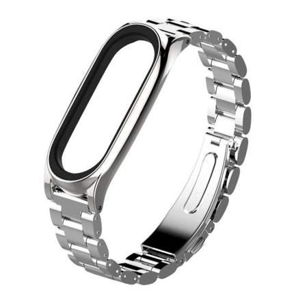 Ремешок металлический для Mi Band 2 Metall Strap Silver