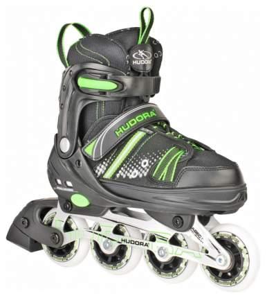 Роликовые коньки раздвижные детские Hudora Inlineskate RX-21 Зеленые р.37-40