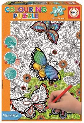 Раскраска EDUCA 17089 Пазл Бабочки 300дет
