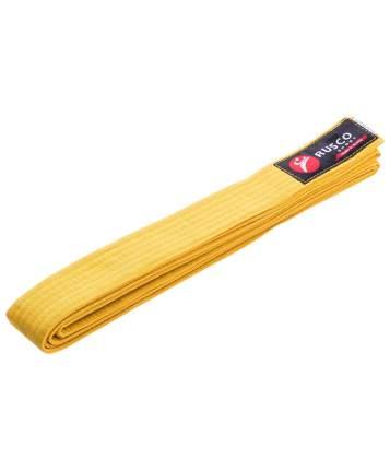 Пояс для единоборств Rusco Sport, 280 см, желтый