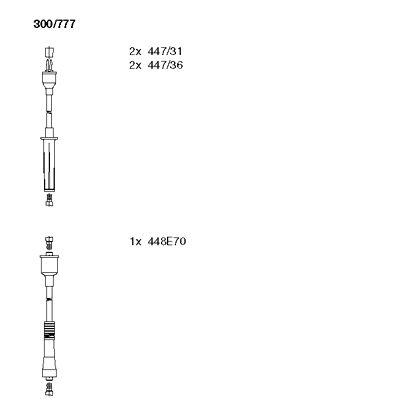 Комплект проводов зажигания BREMI 300/777