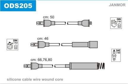Комплект проводов зажигания JANMOR ODS205