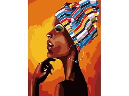 """Картина по номерам MG2112 """"Портрет африканки"""""""