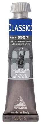 Масляная краска Maimeri Classico синий ультрамарин темный 20 мл