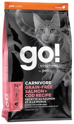 Сухой корм для кошек и котят GO! Carnivore, беззерновой, с лососем и треской, 7,26кг