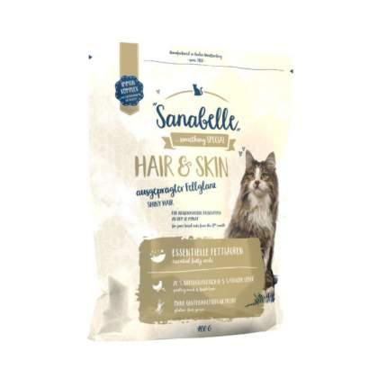 Сухой корм для кошек Sanabelle Hair & Skin, домашняя птица, 0,4кг