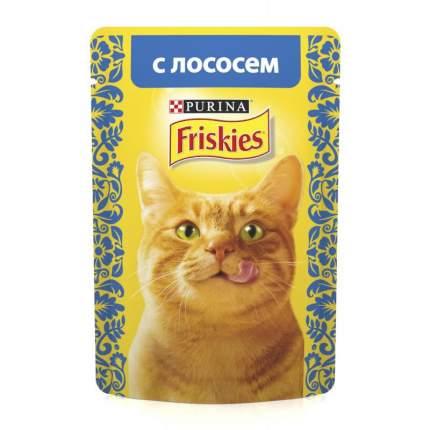 Влажный корм для кошек Friskies, лосось, 24шт, 85г
