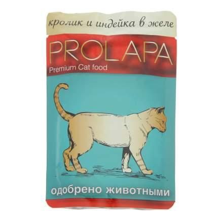 Влажный корм для кошек Prolapa, кролик и индейка в желе, 100г