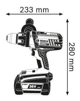 Аккумуляторная дрель-шуруповерт Bosch GSR 36 VE-2-Li 06019C0100