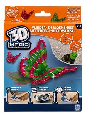 """3D magic 82001 набор для создания объемных моделей """"Бабочка и цветок"""""""