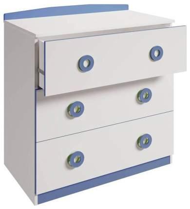 Пеленальный комод Polini Simple 3090, белый-синий