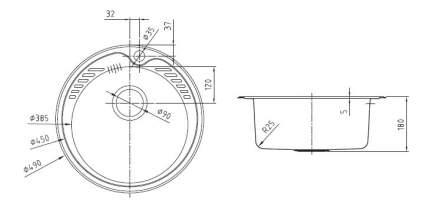 Мойка для кухни из нержавеющей стали IDDIS Suno SUN49S0i77