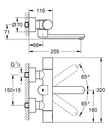 Смеситель для ванны Grohe  Eurosmart CE 36333000 хром
