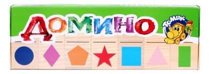 Семейная настольная игра Томик Домино Геометрические фигуры