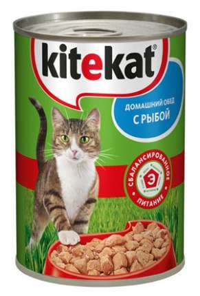 Консервы для кошек KiteKat Домашний обед, с рыбой, 410г